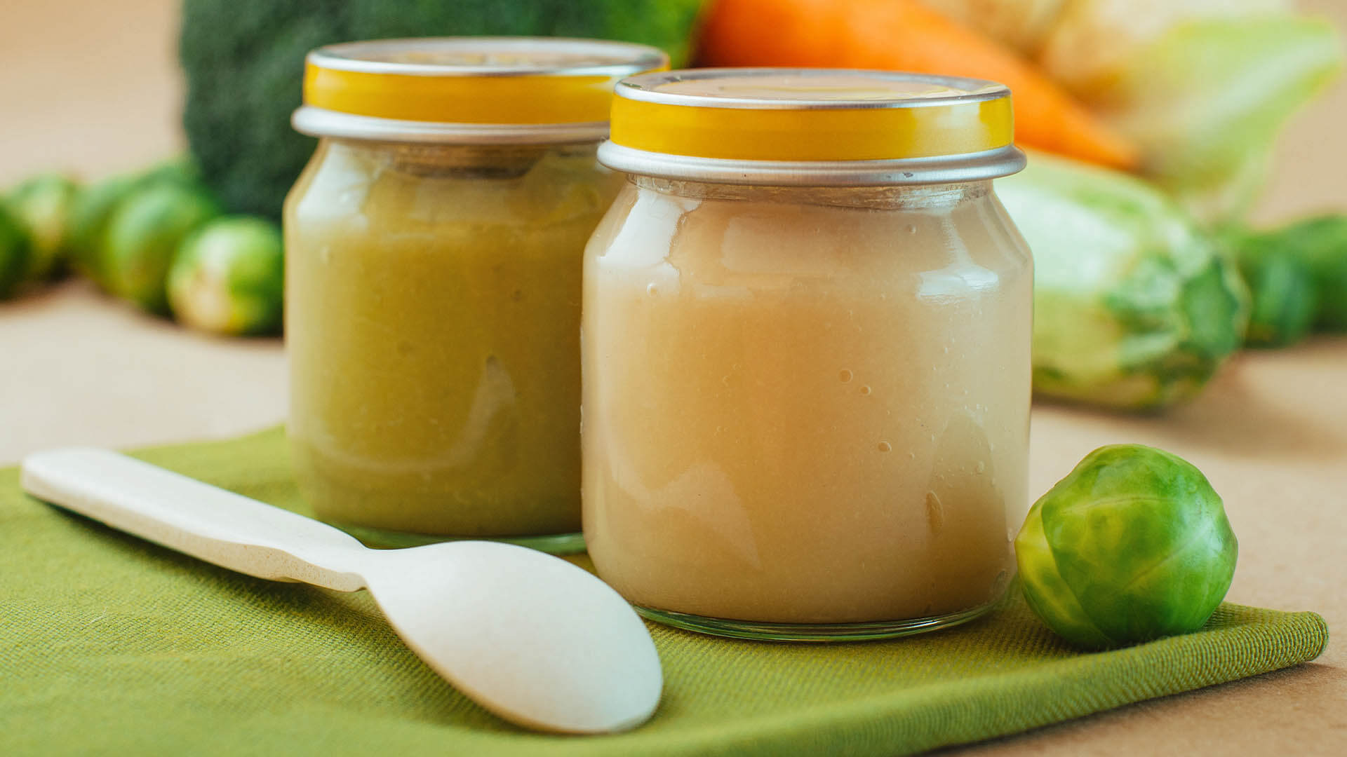 Baby food natural vitamin e